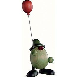 Grünes Männlein mit Luftballon  -  11cm