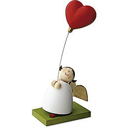 Guardian Angel with Balloon Heart  -  3,5cm / 1.3 inch