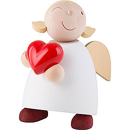 Guardian Angel with Heart  -  16cm / 6.3 inch