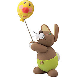 "Hase ""Holger"" mit Ballon  -  16cm"