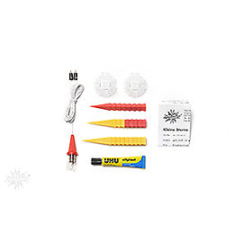 Herrnhuter Moravian Star DIY Kit A1b Yellow/Red Plastic  -  13cm/5.1 inch