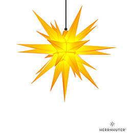 Herrnhuter Moravian star A7 yellow plastic  -  68cm/27inch