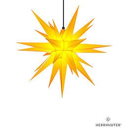 Herrnhuter Moravian star A7 yellow plastic  -  68cm/27inch