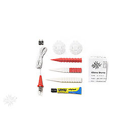 Herrnhuter Moravian star DIY kit A1b white/red plastic  -  13cm/5.1inch