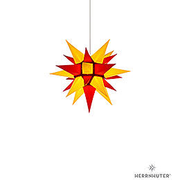 Herrnhuter Moravian star I4 yellow/red paper  -  40cm