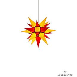 Herrnhuter Stern I4 gelb/rot Papier  -  40cm