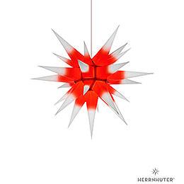 Herrnhuter Stern I6 weiss/roter Kern Papier  -  60cm