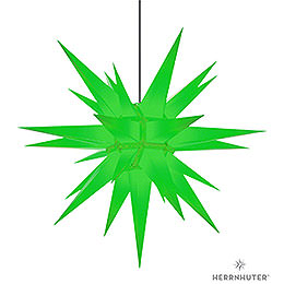 Herrnhuter star A13 green plastic  -  130cm/51inch