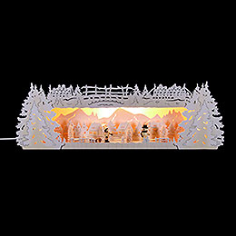 Illuminated stand winter triangle with snow for light triangle   -  54x17x15cm / 21x6.7x6inch