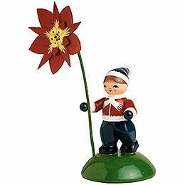 Junge mit Weihnachtstern  -  6cm