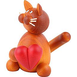Katze Charlie mit Herz  -  8cm
