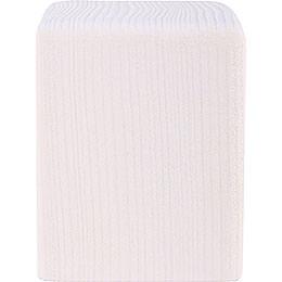 Klotz mittel weiß  -  8cm