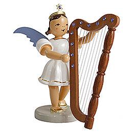 Kurzrockengel farbig Harfe mit SWAROVSKI ELEMENTS  -  6,6cm