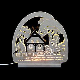 LED Candle Arch Spreewald  -  30 x 28.5 x 4.5cm / 11.81 x 11.02 x 1.57 inch