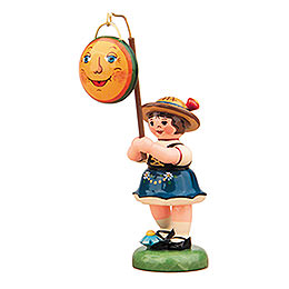 Lampion girl with moon lampion -  8cm / 3inch