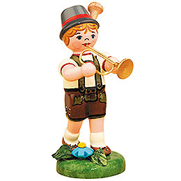 Lampionkind Junge mit Trompete  -  8cm