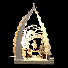 Lichterspitze LED mini Wanderer  -  15,5x23,5x4,5cm
