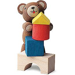 Lucky Bear Builder  -  4cm / 1.6 inch