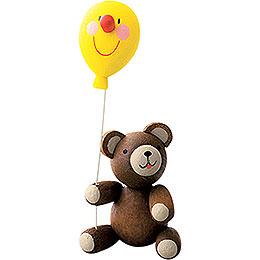 Lucky bear with balloon  -  5,5cm / 2.7inch
