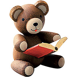 Lucky bear with book  -  2,7cm / 1.1inch