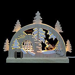 Mini LED Lightarch  -  Winter Countryside  -  23x15x4,5cm / 9x6x2 inch