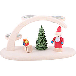 Modern Light Arch with Santa  -  25x13x10cm / 9.8x5.1x3.9inch