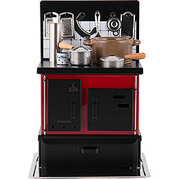 Multi - Function Stove Red - Black  -  21cm / 8.3 inch