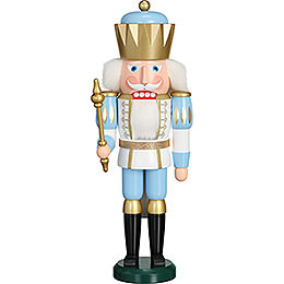 Nussknacker Exklusiv König weiß - blau  -  40cm