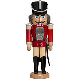 Nutcracker Hussar  -  Ash  -   red  -  37cm / 15 inch