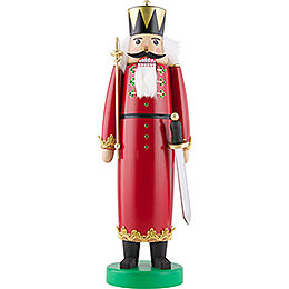 Nutcracker  -  King with Long Cloak and Swarovski Crystals  -  43cm / 17 inch