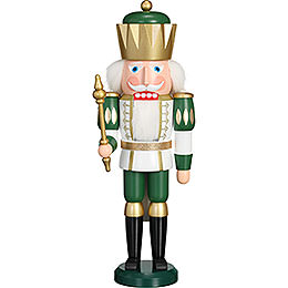 Nutcracker exclusive king white - green  -  40cm / 15.7inch