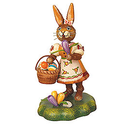 Rabbit mother with crocus  -  9cm / 3,5inch