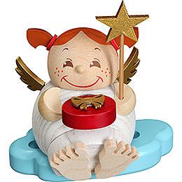 Räuchermännchen Engel mit Weihnachtsgeschenk  -  12cm