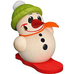 Räuchermännchen Kugelräucherfigur Cool - Man mit Snowboard & Bommelmütze  -  9cm