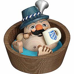 Räuchermännchen Kugelräucherfigur Franzl im Pool  -  10cm