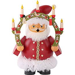 Räuchermännchen Weihnachtsmann m.Kerzenbogen  -  14cm