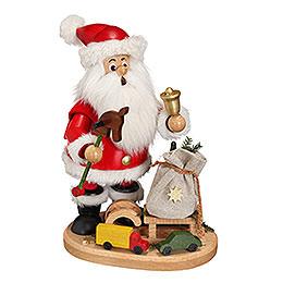 Räuchermännchen Weihnachtsmann mit Steckenpferd  -  22cm