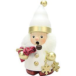 Räuchermännchen Weihnachtsmann weiß/gold  -  12,5cm