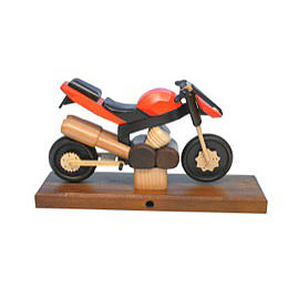 Räuchermotorrad Sport orange 27x18x8cm