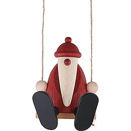 Santa Claus on a Swing  -  9cm / 3.5 inch