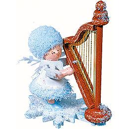 Schneeflöckchen mit Harfe  -  5cm