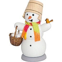 Schneemann mit Schneeballkorb  -  13cm