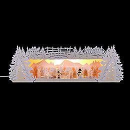 Schwibbogenerh�hung f�r Lichterspitze Winterspitze verschneit  -  54x17x15cm
