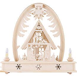 Seidelbogen Weihnachtshaus  -  36cm x 37cm