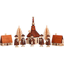 "Seiffen's Village with Carolers  -  12cm / 5 Inch"""