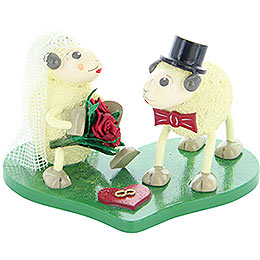 "Sheep Bridal Pair ""Justy"" and ""Mary""  -  5,5cm / 2.2 inch"