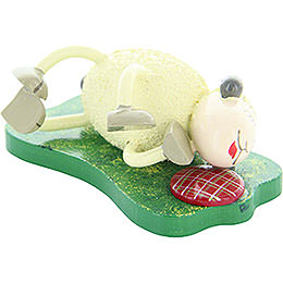 "Sheep ""Fauli"", lying on the side  -  3,5cm / 1.4inch"