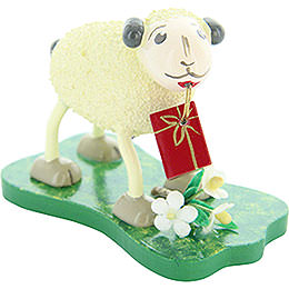 "Sheep ""Gratulanti"", brings presents  -  5,5cm / 2.2inch"