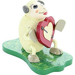 "Sheep ""Lovely"", in Love  -  5cm / 2 inch"