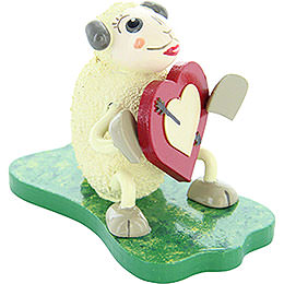 "Sheep ""Lovely"", in love  -  5cm / 2inch"